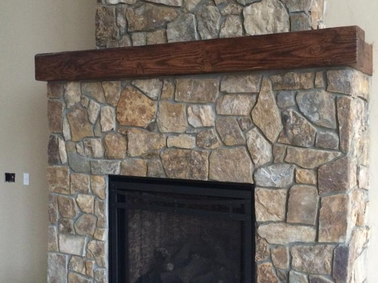 Chestnut Random fireplace