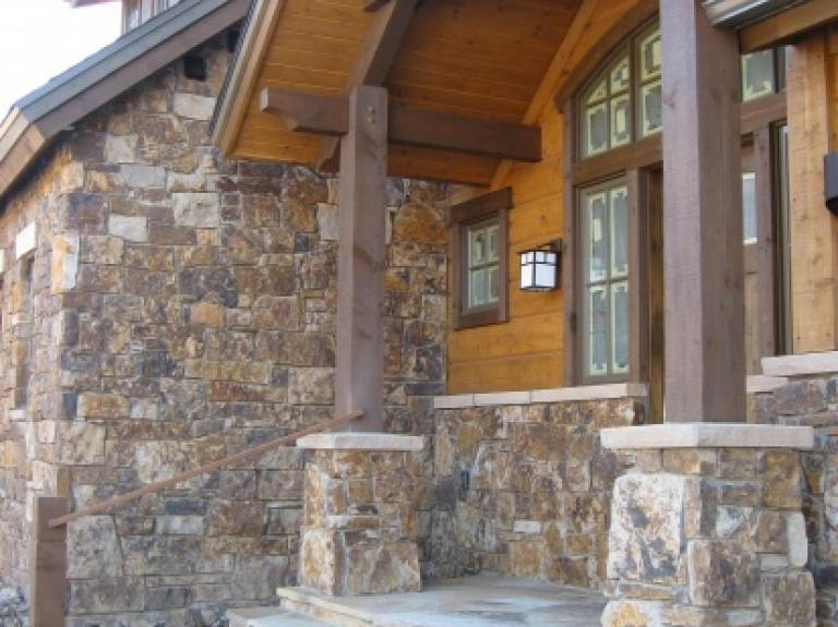Chestnut Brown Full Stone Veneer