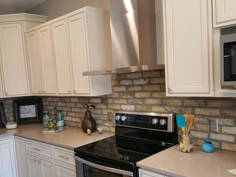 Germantown brick/ kitchen