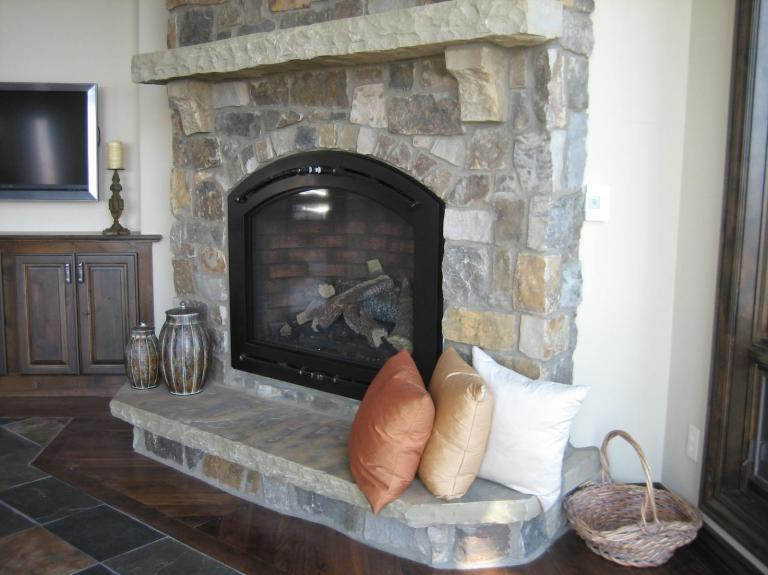 Highlands with custom corbels and hearth
