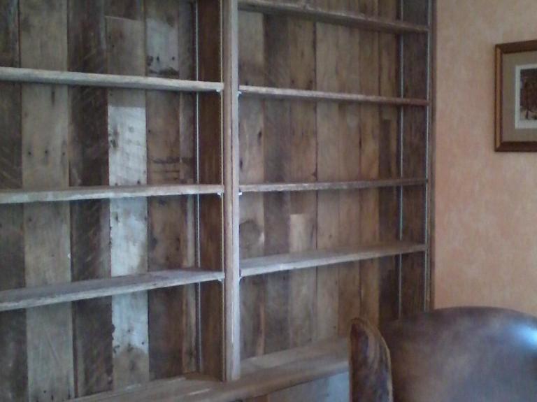 Oak Siding Bookshelf