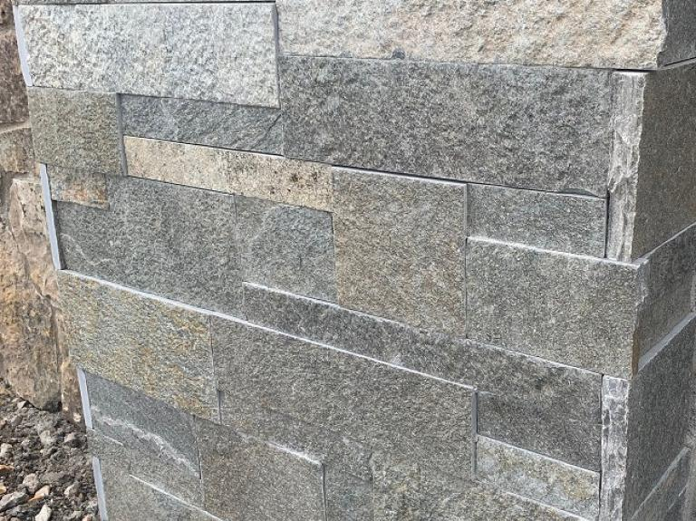"""Quartzite Sawn 4 Sides 2""""/4""""/6"""" with chipped end corners"""