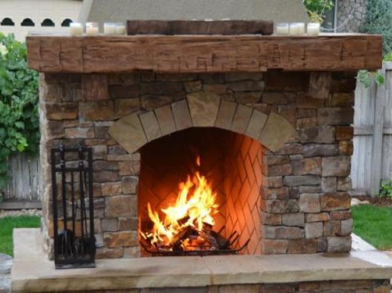 ... Reclaimed Wood Mantle with thin veneer ... - Reclaimed Wood Telluride Stone
