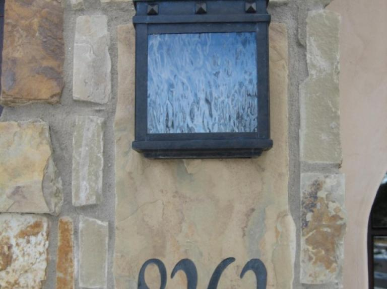 Address and light fixture plaques