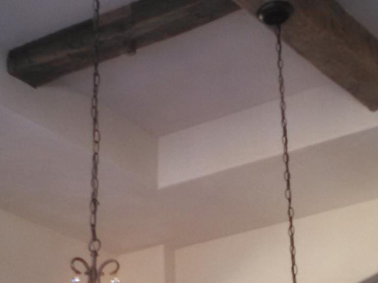 Hand Hewn Ceiling Beams