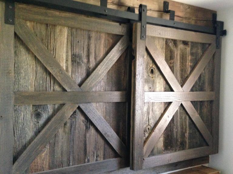 Reclaimed Barndoor Cabinets